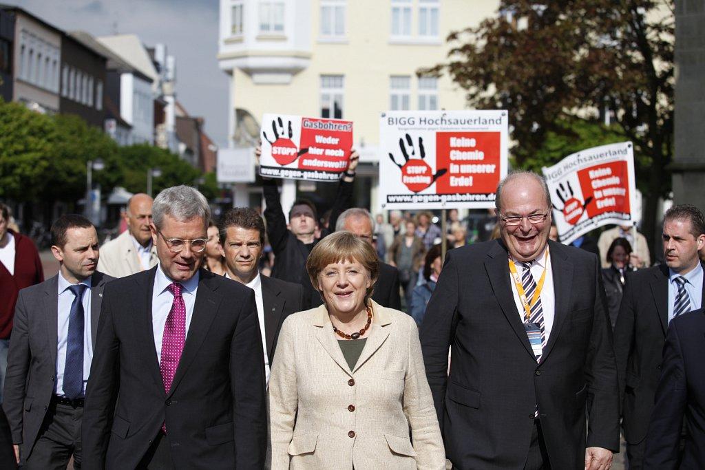 Wahlkampfveranstaltung der CDU NRW mit Angela Merkel